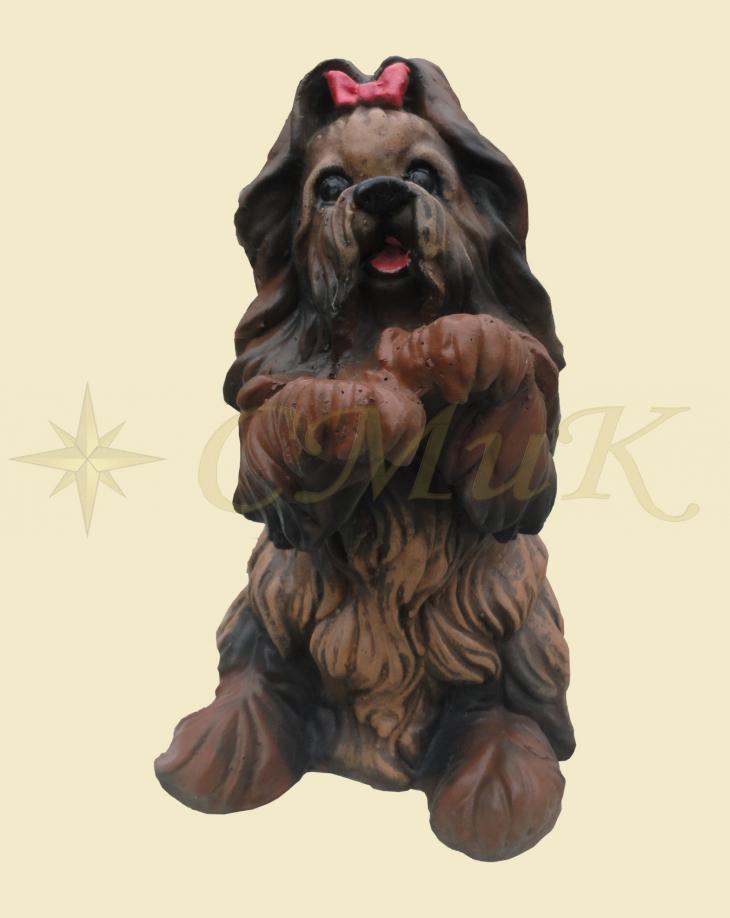 Садовая фигура собачка с бантиком купить недорого от ...
